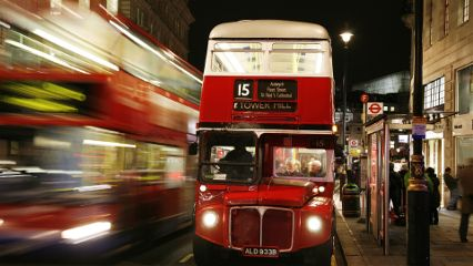 city london bus travel red