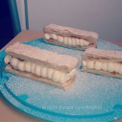 food millefeuille cream