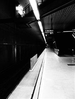 photography black & white travel subway train