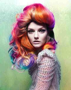 colorful cute hair