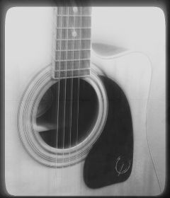 music black & white guitar